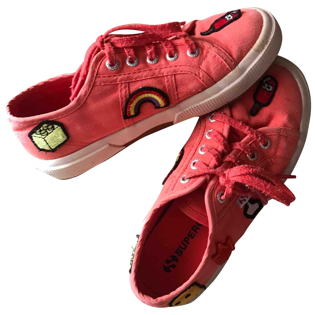 Superga \N Orange Cloth Boots for Kids 30 EU