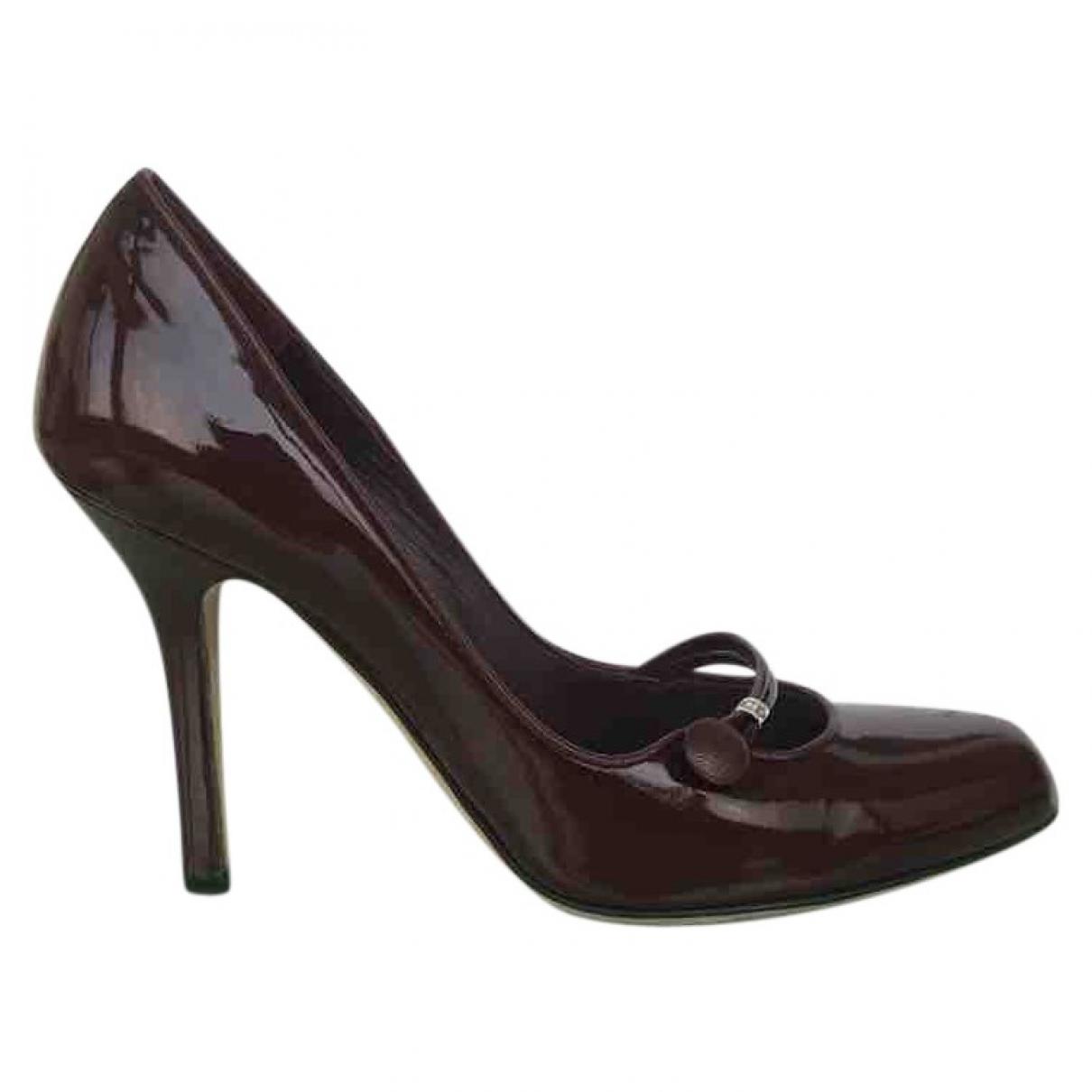 Dior \N Burgundy Patent leather Heels for Women 36 EU