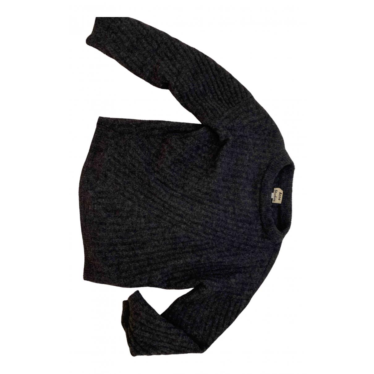 Acne Studios - Pull   pour femme en laine - anthracite