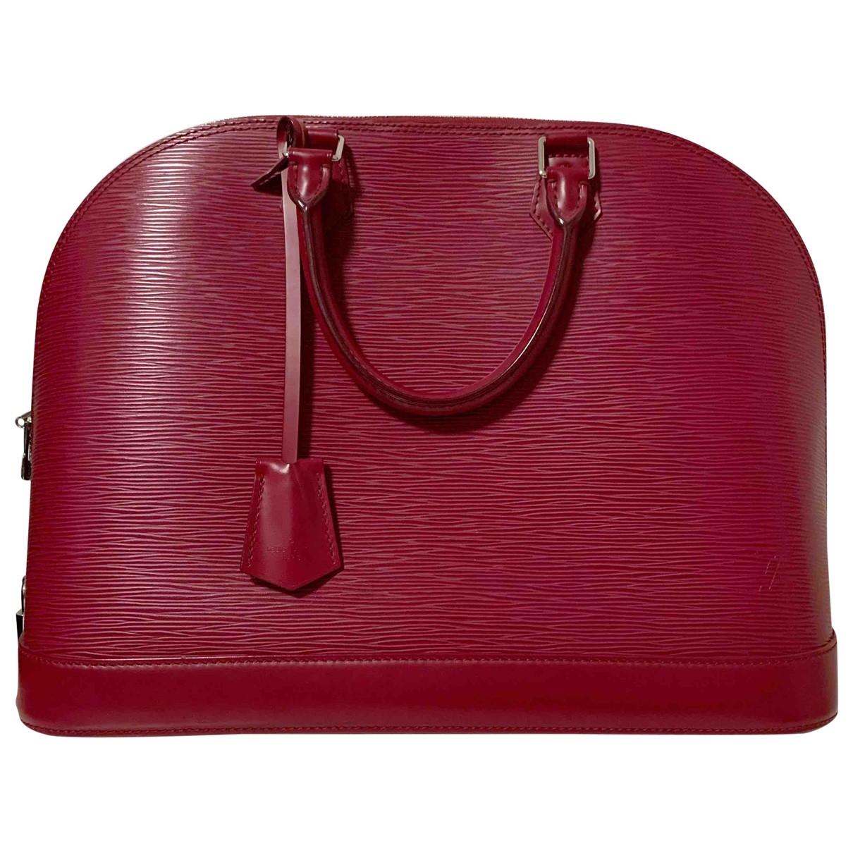 Louis Vuitton - Sac a main Alma pour femme en cuir - rose