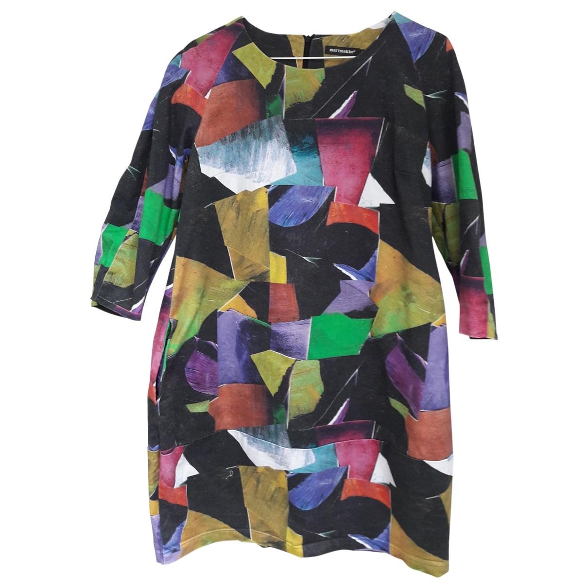 Marimekko - Robe   pour femme en coton - multicolore