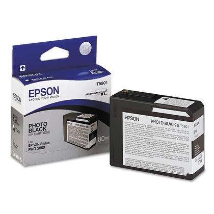 Epson T580100 Original K3 Photo Black UltraChrome Ink Cartridge