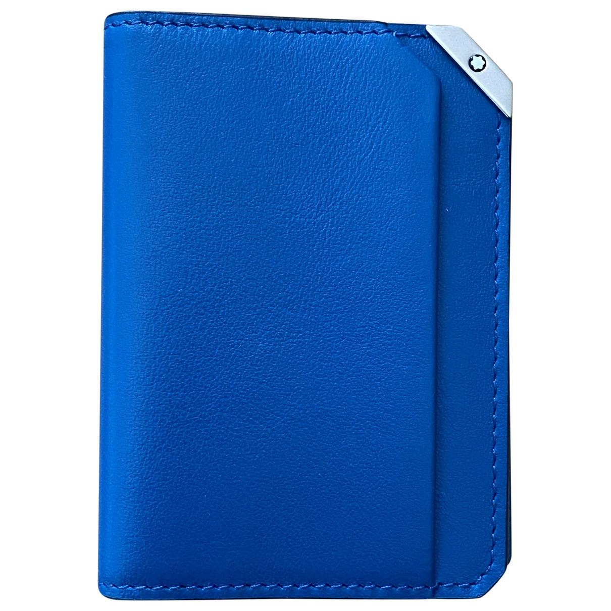 Montblanc - Petite maroquinerie   pour homme en cuir - bleu