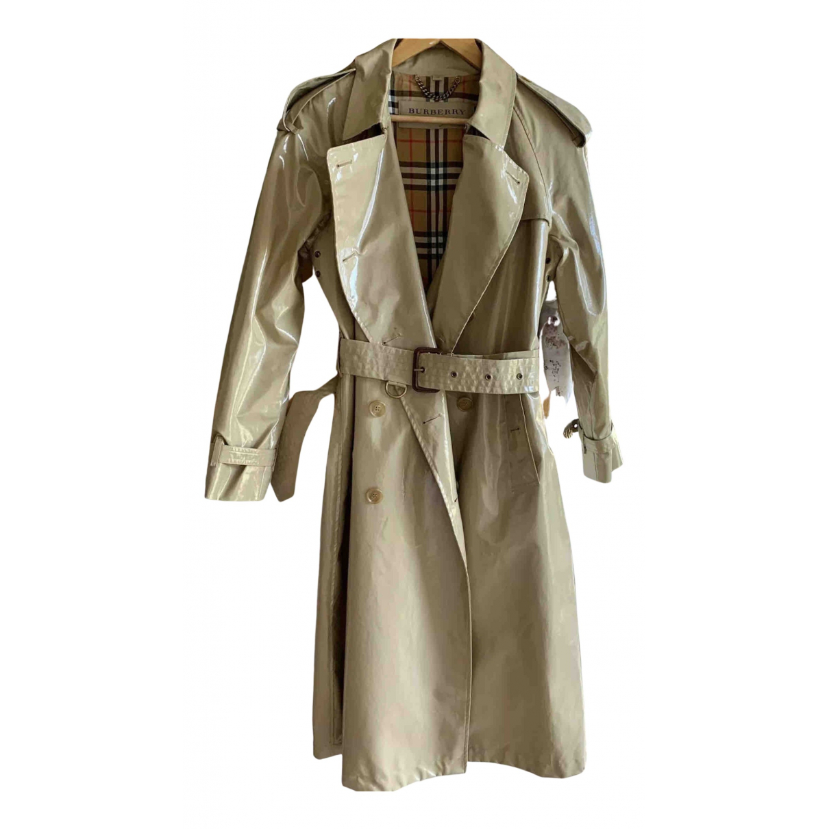 Burberry N Beige Leather Trench coat for Women 8 UK