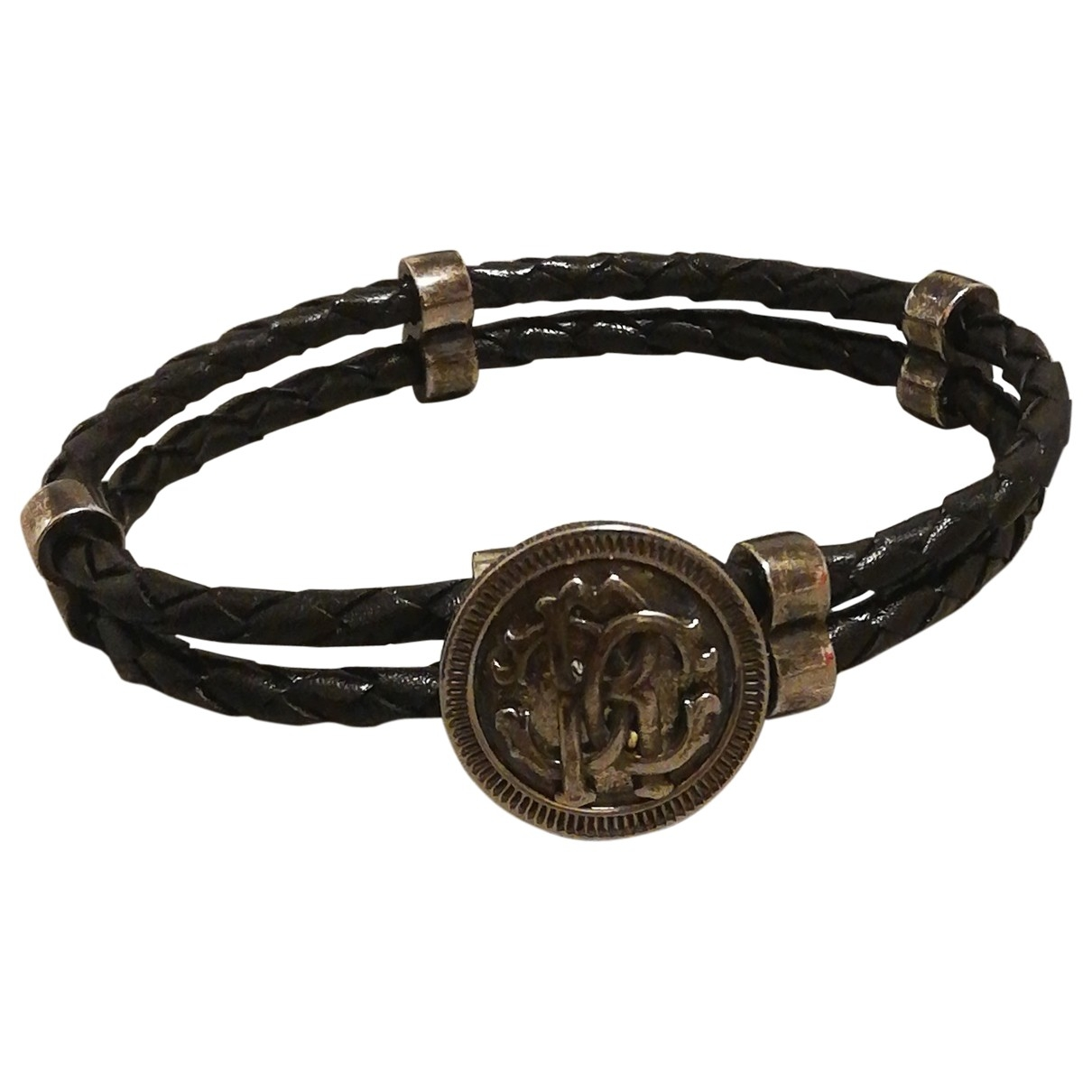 Roberto Cavalli \N Black Leather Jewellery for Men \N