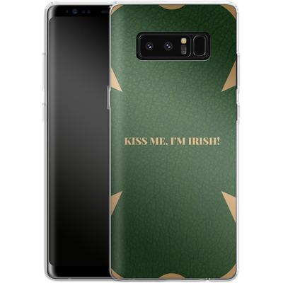 Samsung Galaxy Note 8 Silikon Handyhuelle - Irish von caseable Designs