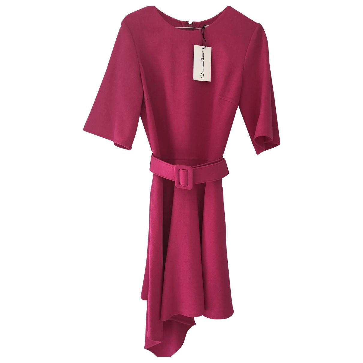Oscar De La Renta \N Pink Cotton dress for Women 6 UK