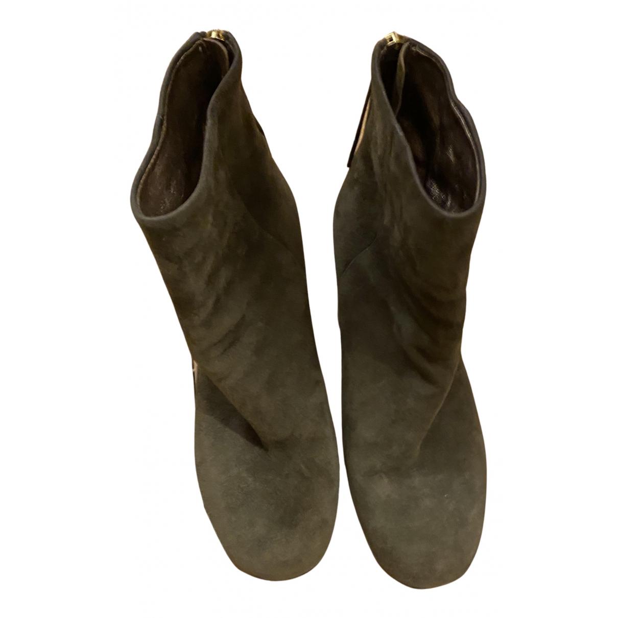 Isabel Marant - Boots Garett pour femme en suede - kaki
