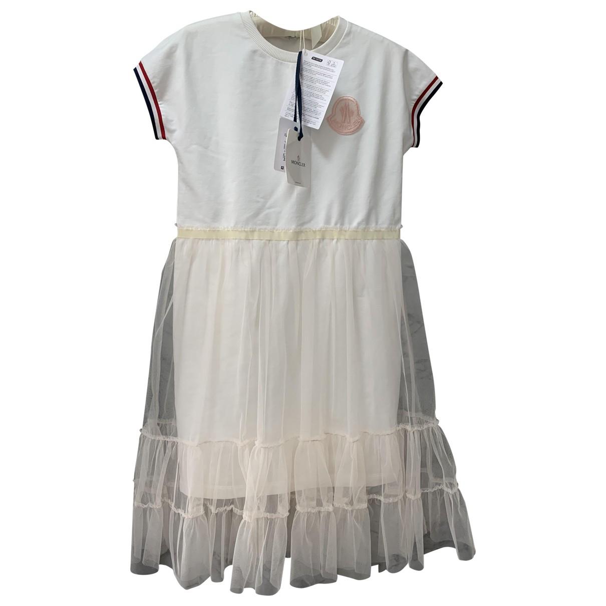 Moncler - Robe    pour enfant en coton - blanc
