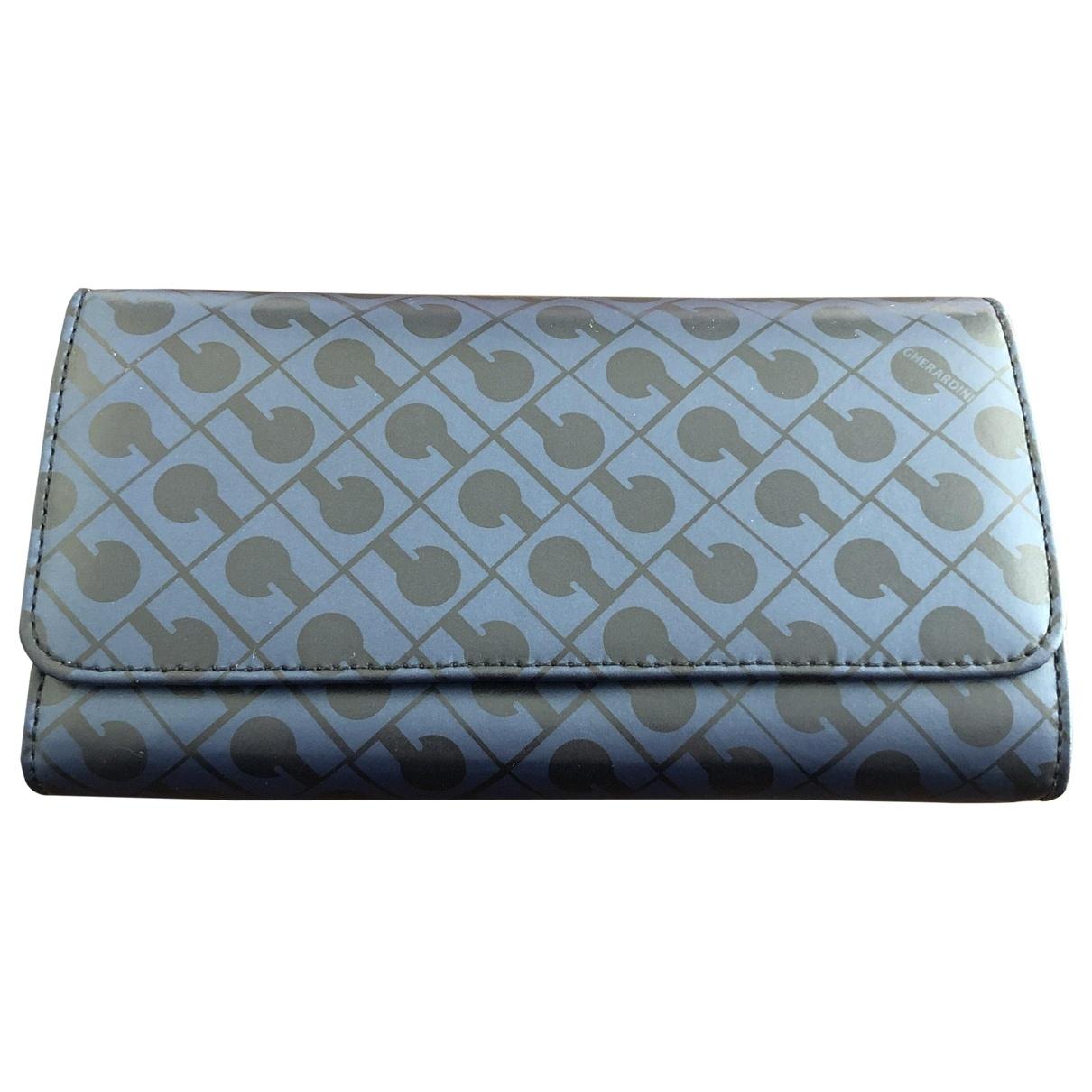Gherardini - Portefeuille   pour femme en cuir - bleu
