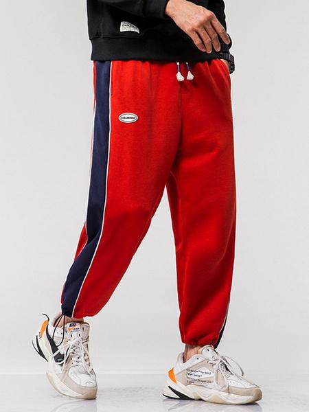 Milanoo Pants For Men Casual Natural Waist Straight Sweatpants Grey Men\'s Pants
