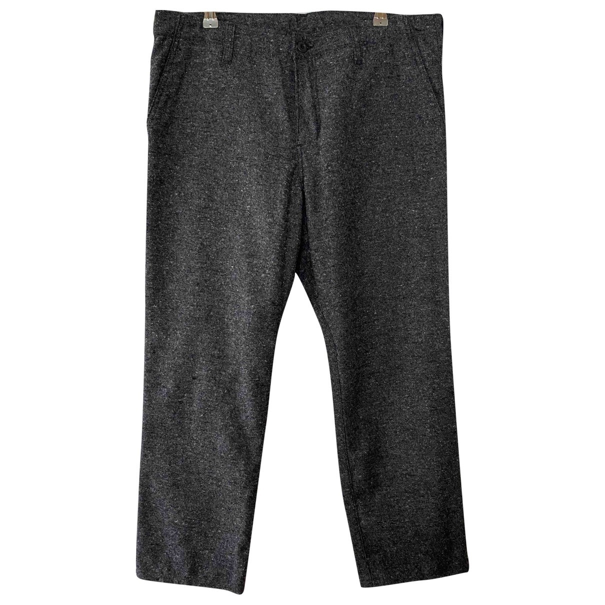 Carhartt Wip \N Anthracite Wool Trousers for Men 34 UK - US