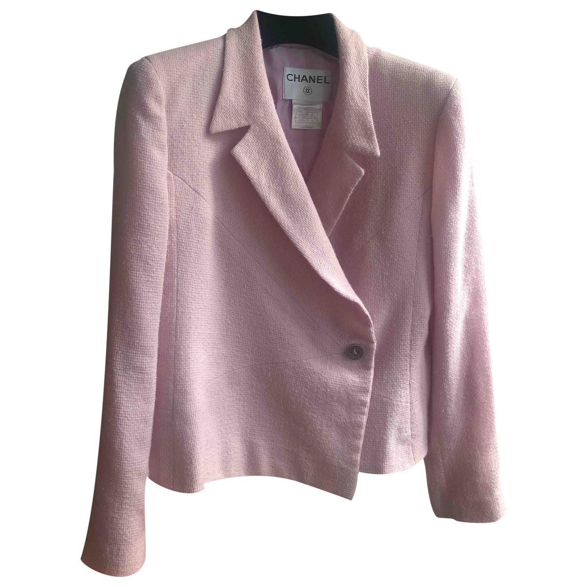 Chanel - Veste   pour femme en laine - rose