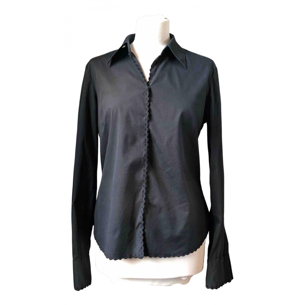 Elie Tahari - Top   pour femme en coton - noir