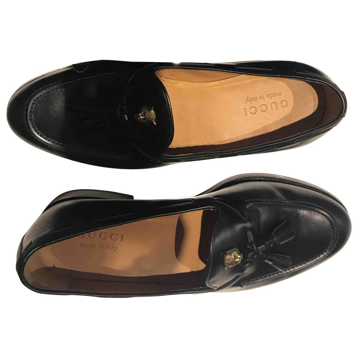 Gucci \N Black Leather Flats for Men 8.5 UK