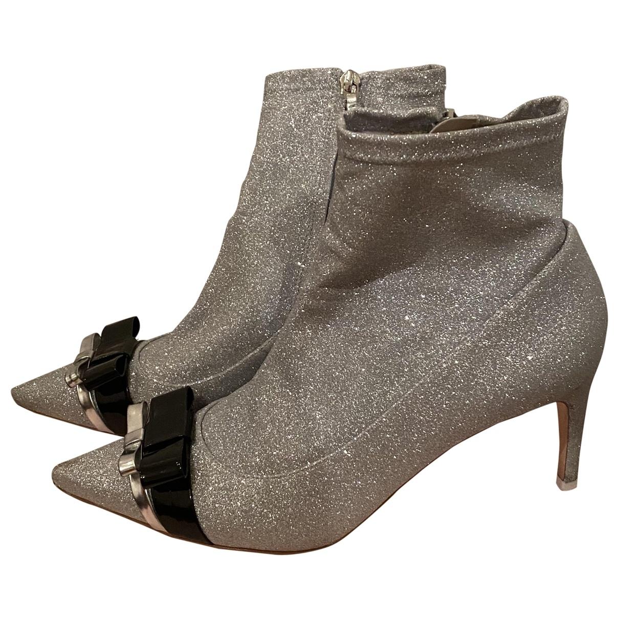 Sophia Webster - Boots   pour femme en a paillettes - argente