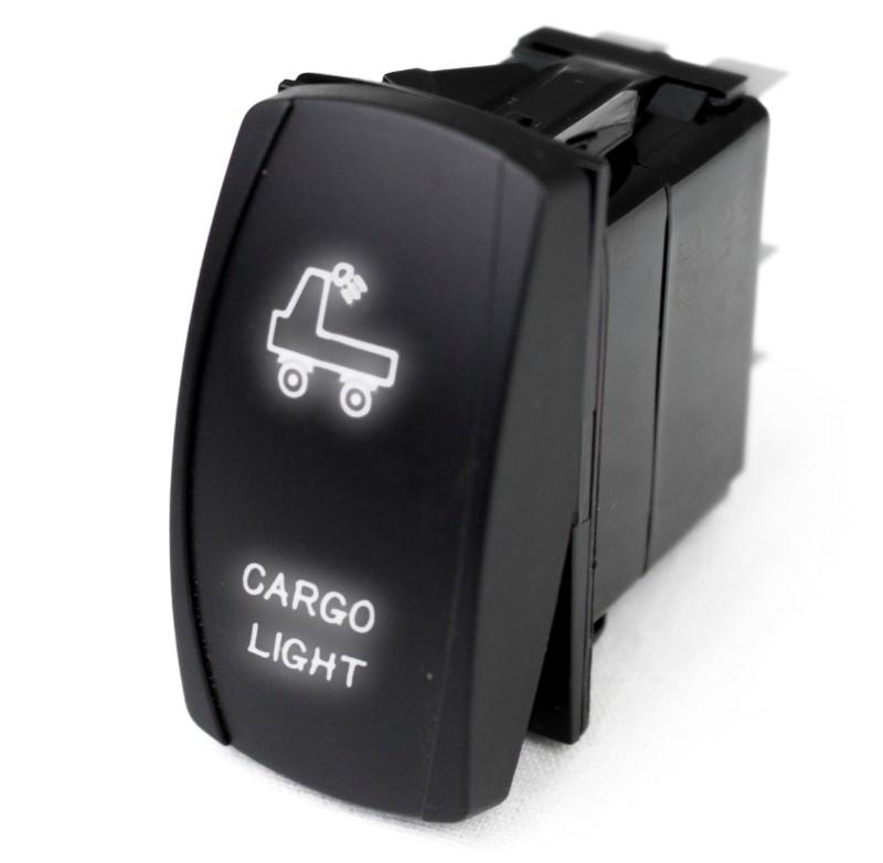 Race Sport Lighting RSLJ68W LED Rocker Switch with White LED Radiance (Cargo Light)
