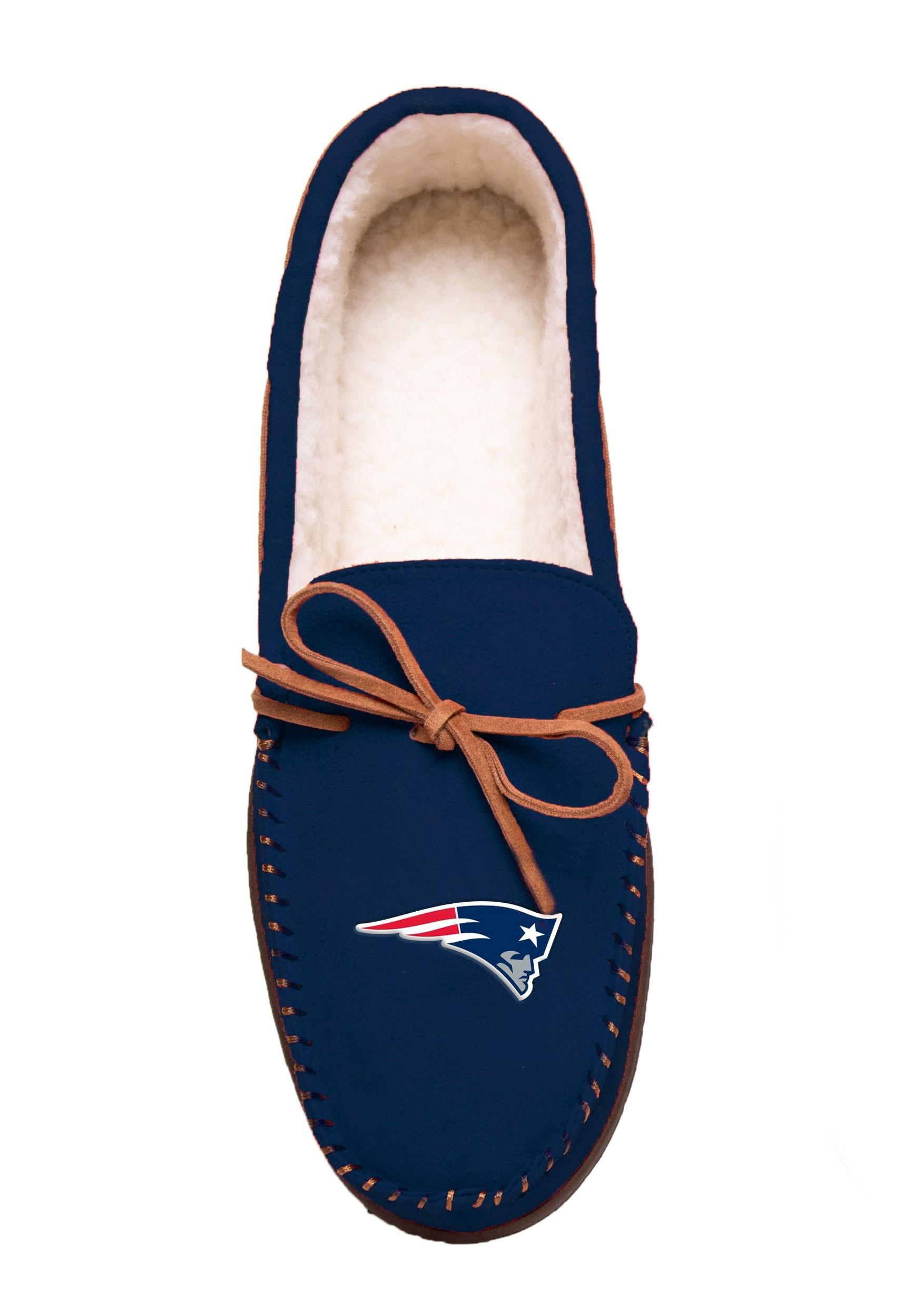 Team Color New England Patriots Big Logo Moccasin