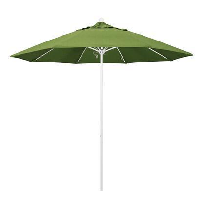 ALTO908170-48022 9' Venture Series Commercial Patio Umbrella With Matted White Aluminum Pole Fiberglass Ribs Push Lift With Sunbrella 1A Spectrum