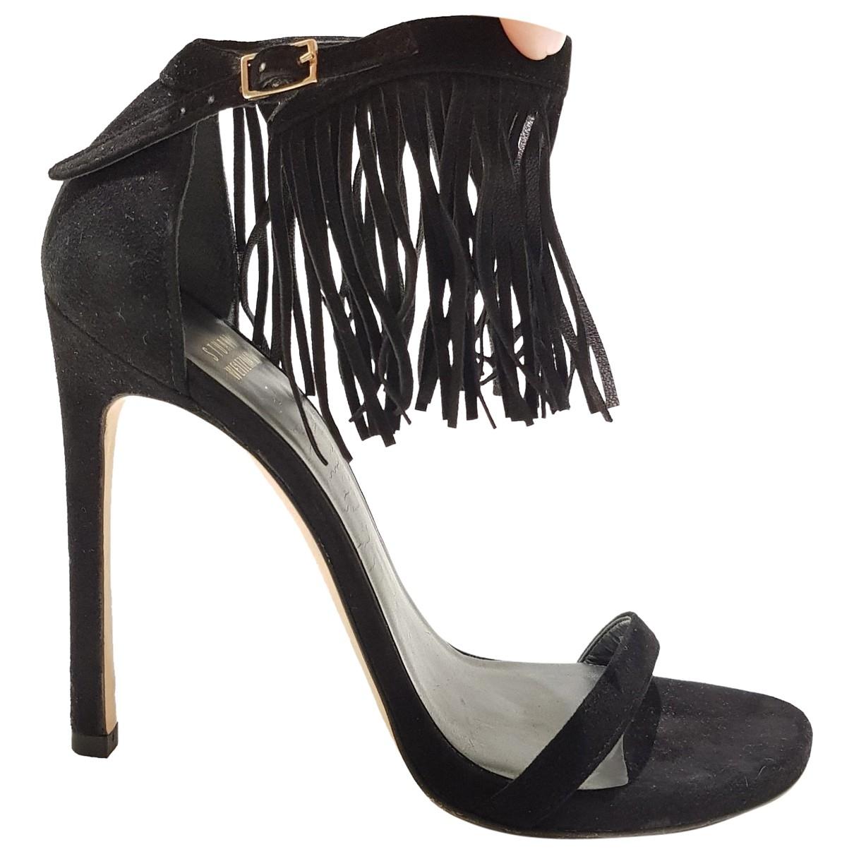 Stuart Weitzman \N Black Suede Heels for Women 37.5 EU