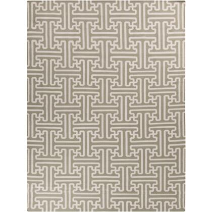 Smithsonian Archive ACH1705-811 8 x 11 Rectangular 100% Wool Hand Woven Reversible Area Rug with No Pile  No Shedding  and Hand Made in India in