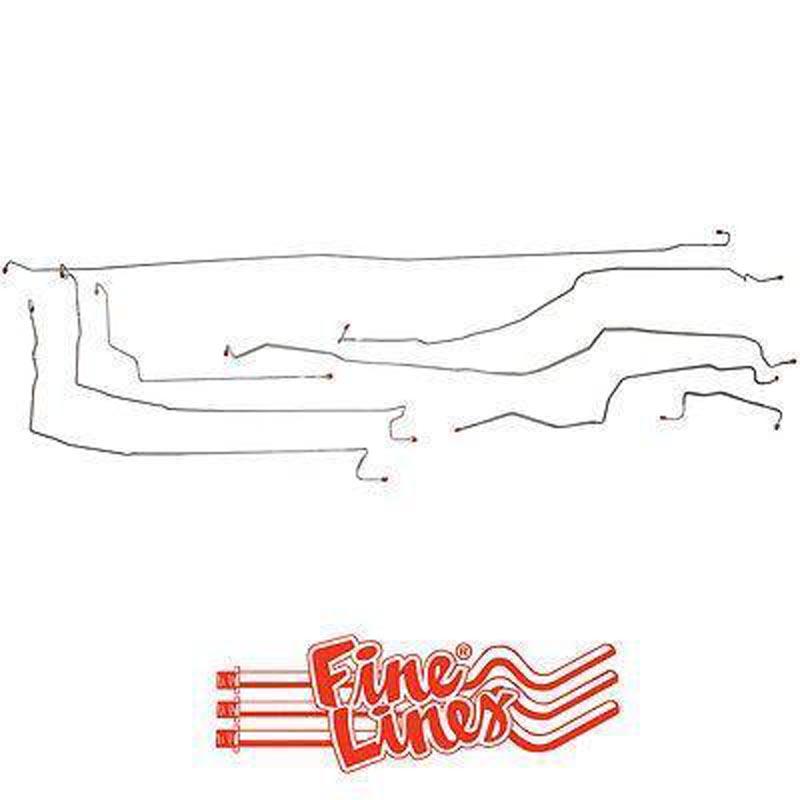 Fine Lines CBK0218OM Complete Brake Line Kit For 00-02 GM 1500 SUV 4WD 130wb Complete Steel