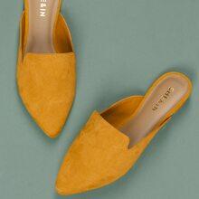 Zapatillas ballet de estilo mule de punta cerrada