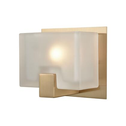 11970/1 Ridgecrest 1 Light Vanity in Satin Brass with Frosted Cast
