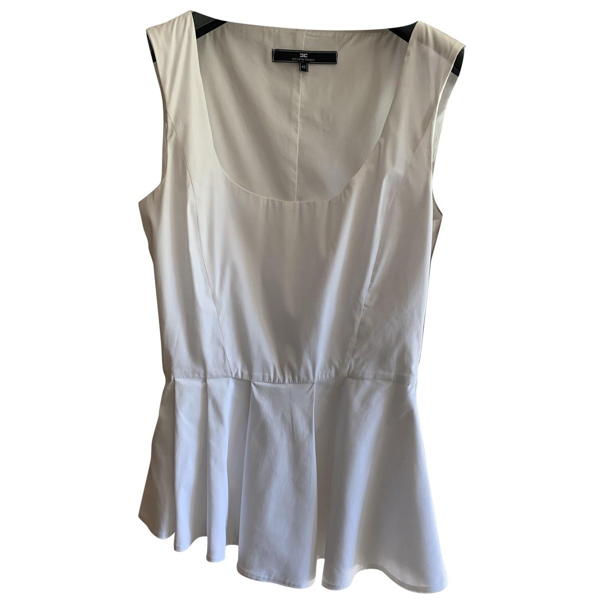 Elisabetta Franchi \N White Cotton  top for Women 42 IT