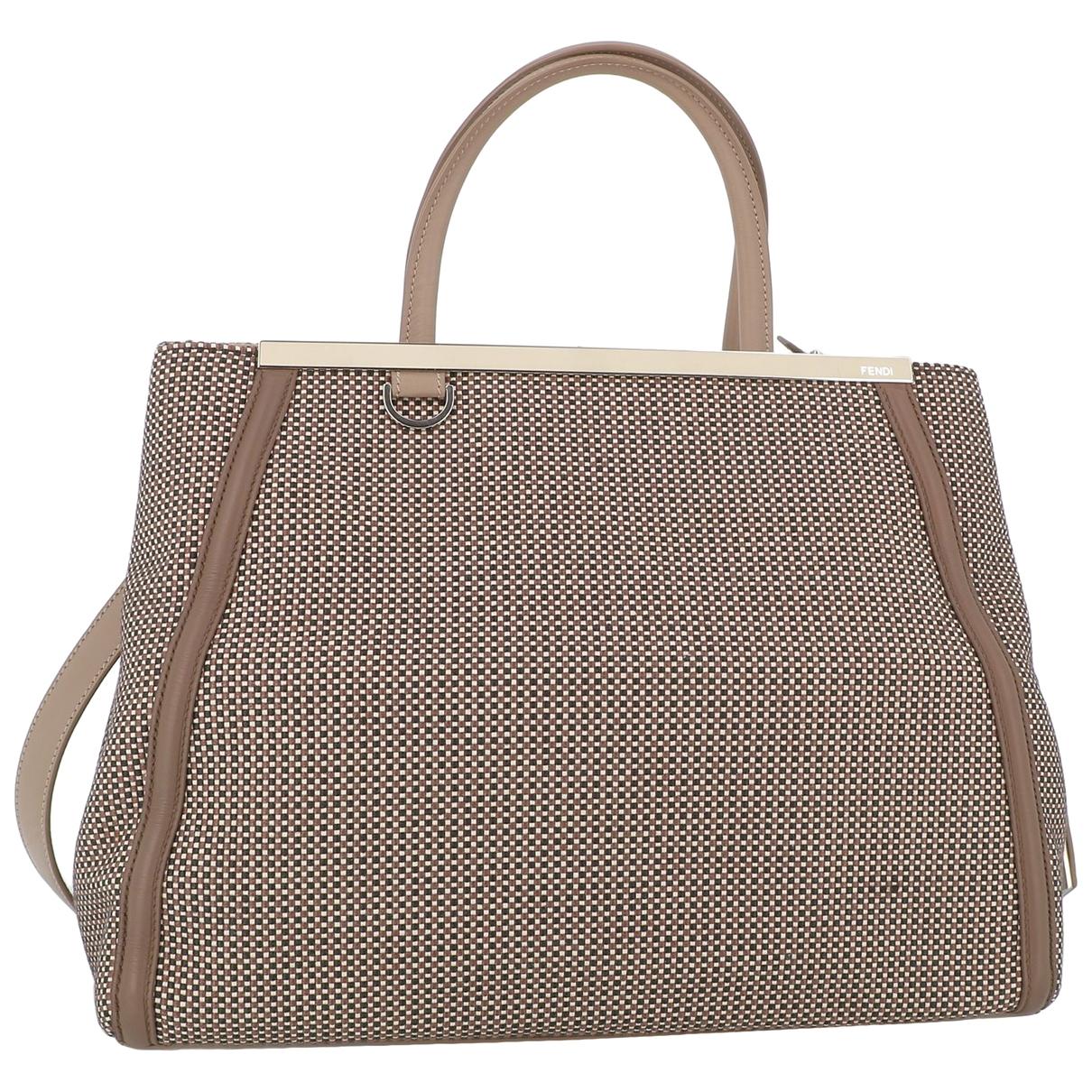 Fendi 2Jours Beige Cloth handbag for Women \N