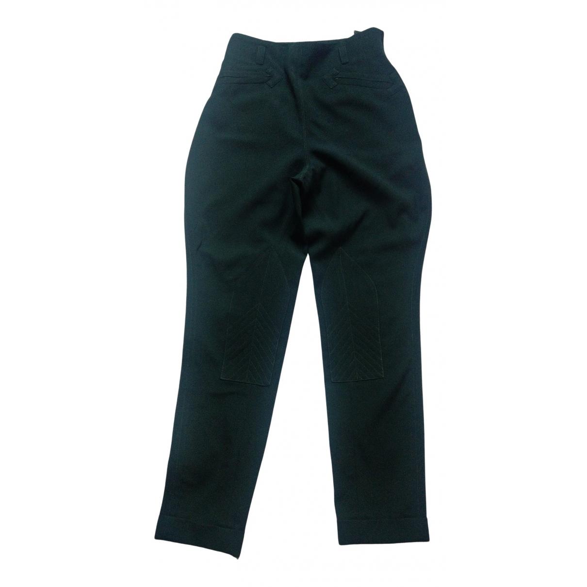 Hermes - Pantalon   pour femme en laine - vert