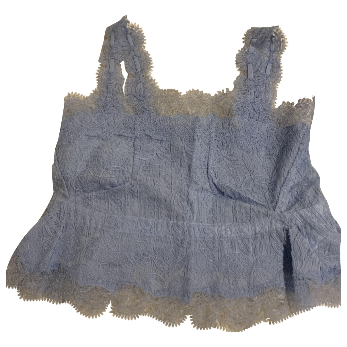 Ermanno Scervino \N Top in  Blau Spitze