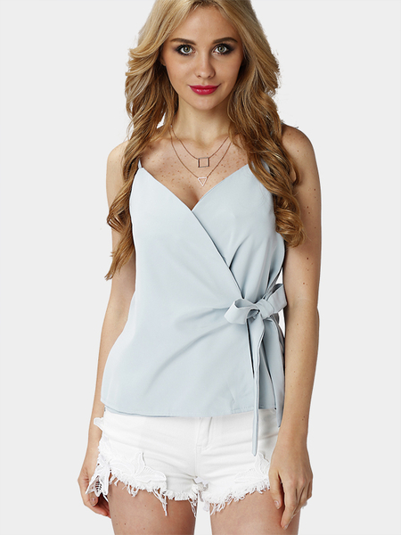 Yoins Sexy Strappy Cami Top with Bowknot