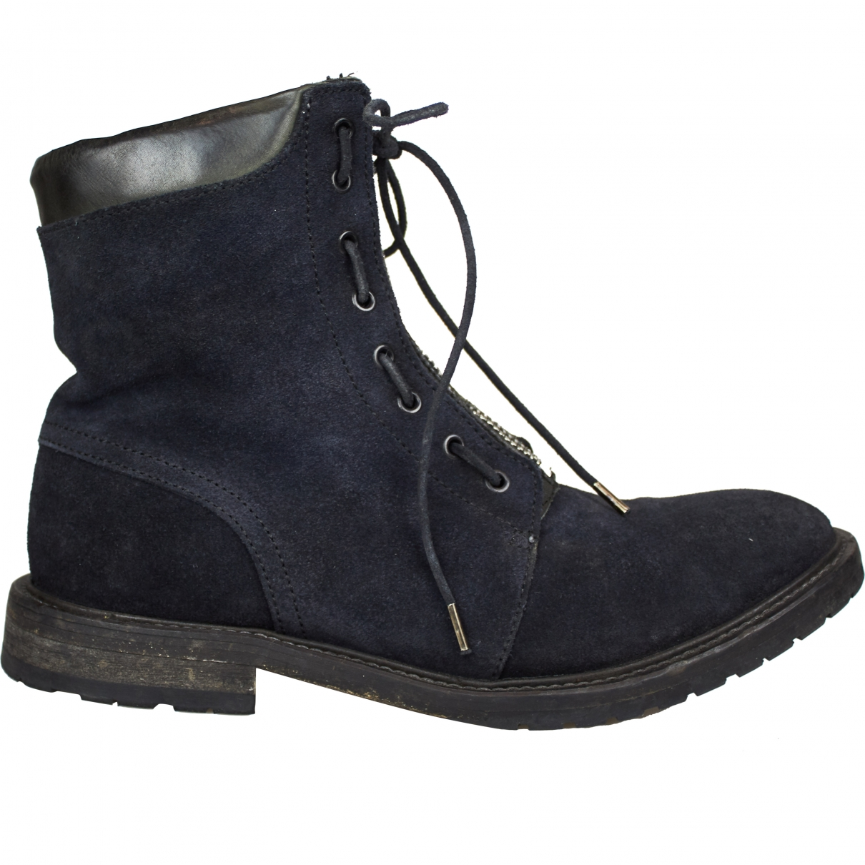 All Saints \N Blue Suede Boots for Men 43 EU