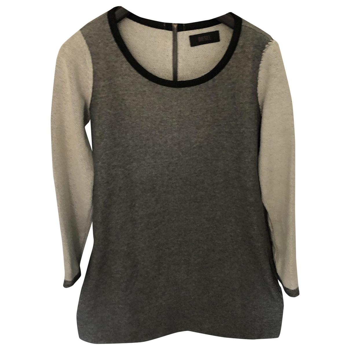 Diesel \N Kleid in  Grau Baumwolle