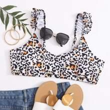Bikini Top mit Leopard Muster