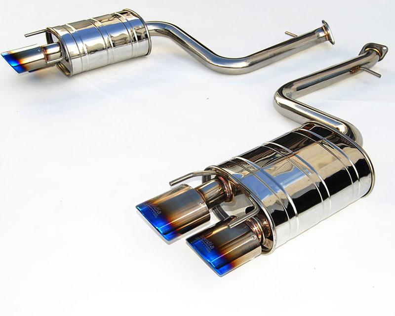 Invidia HS14LRCDR4OT Q300 Axleback Rolled Titanium Quad Tips Exhaust Lexus RC200T 4cyl Turbo 16-17