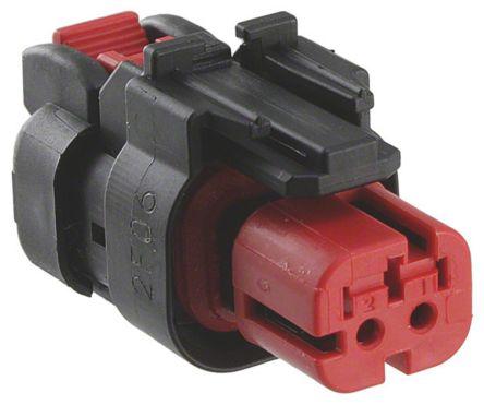 TE Connectivity , AMPSEAL 16 Automotive Connector Plug 1 Row 2 Way, Black