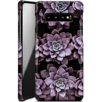 Samsung Galaxy S10 Plus Smartphone Huelle - Purple Succulents von caseable Designs