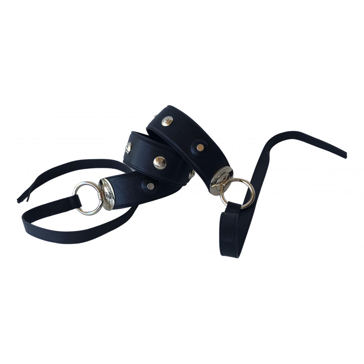 Yves Saint Laurent \N Black Leather belt for Women 70 cm