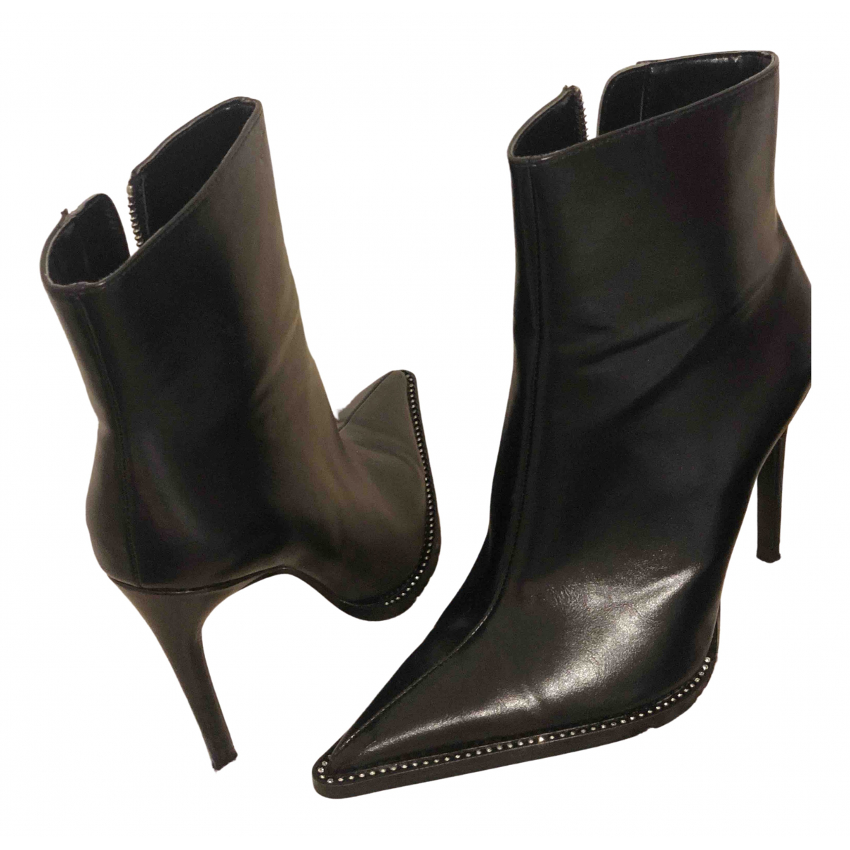 Zara \N Stiefel in  Schwarz Polyester