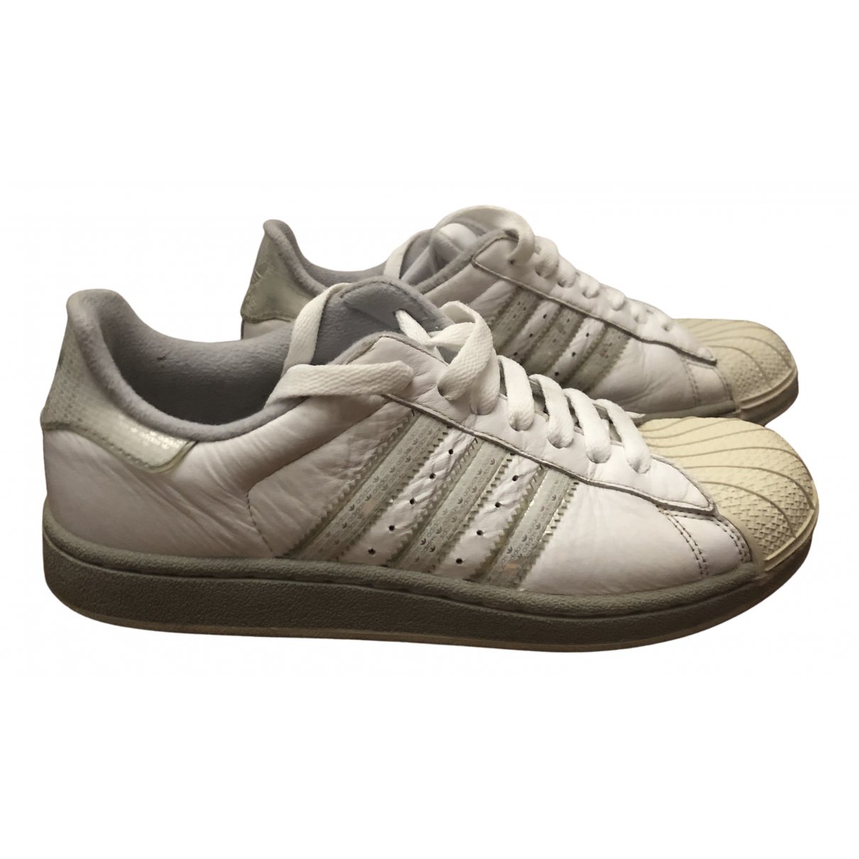 Adidas Superstar White Leather Trainers for Women 5 UK