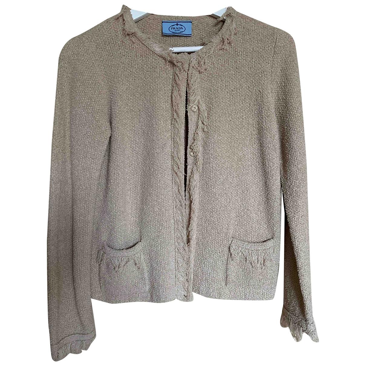 Prada - Veste   pour femme en coton - beige