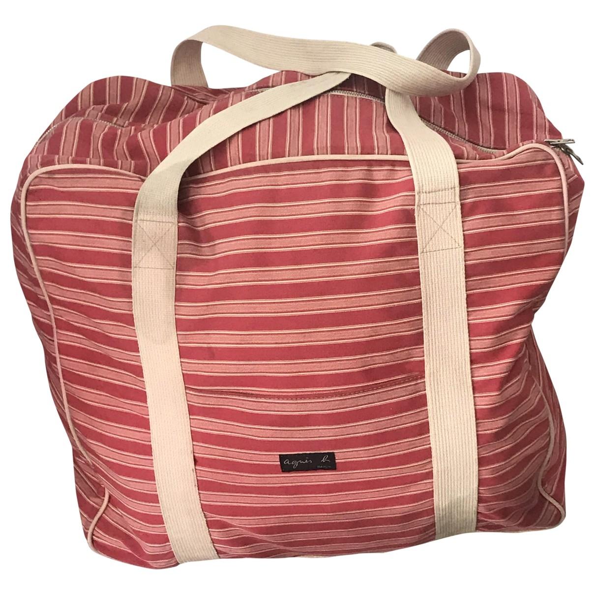 Agnès B. \N Pink Cotton Travel bag for Women \N