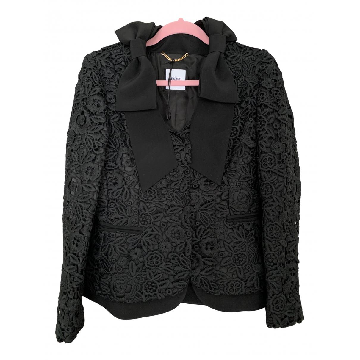 Moschino N Black Cotton jacket for Women 10 UK