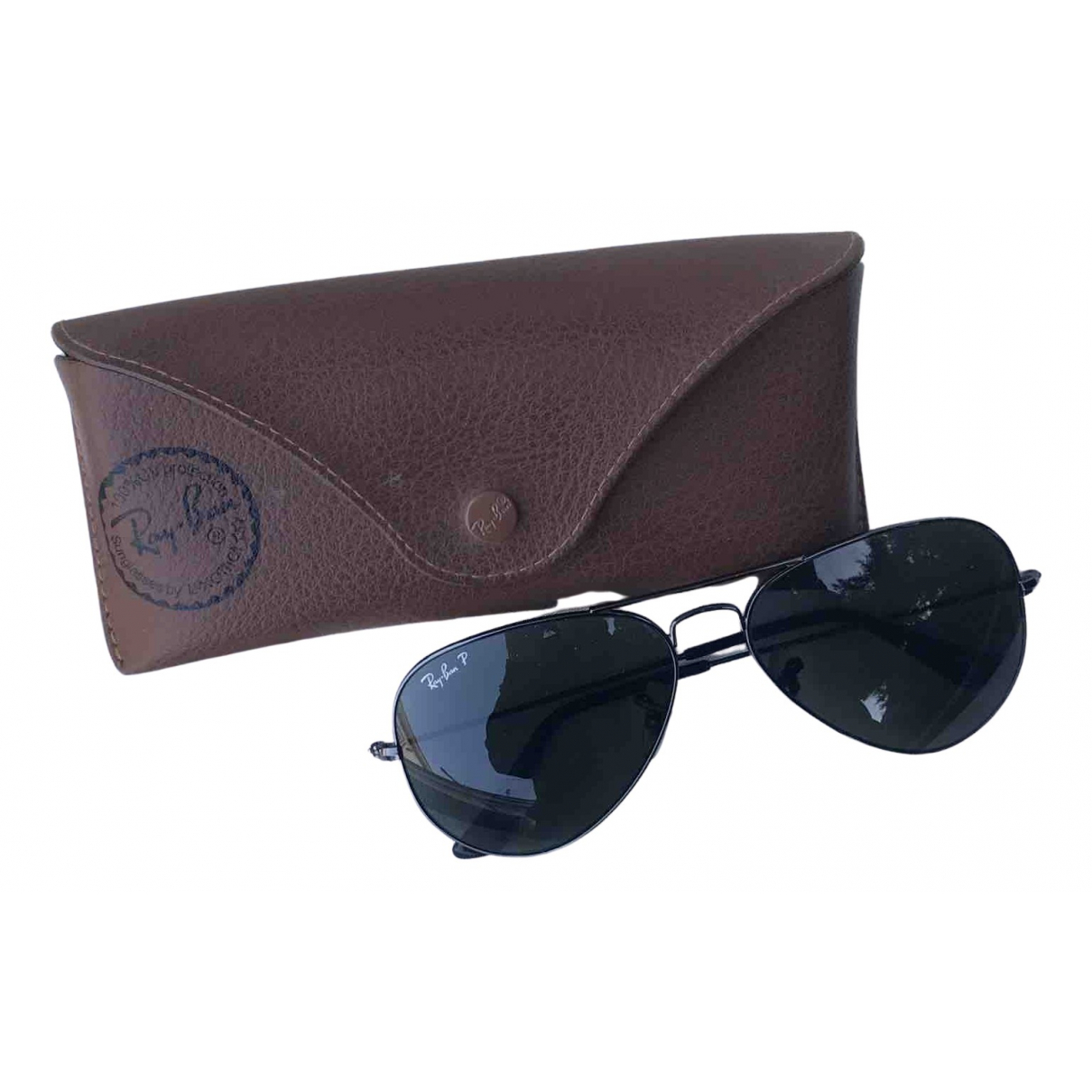 Ray-ban Aviator Black Metal Sunglasses for Men N
