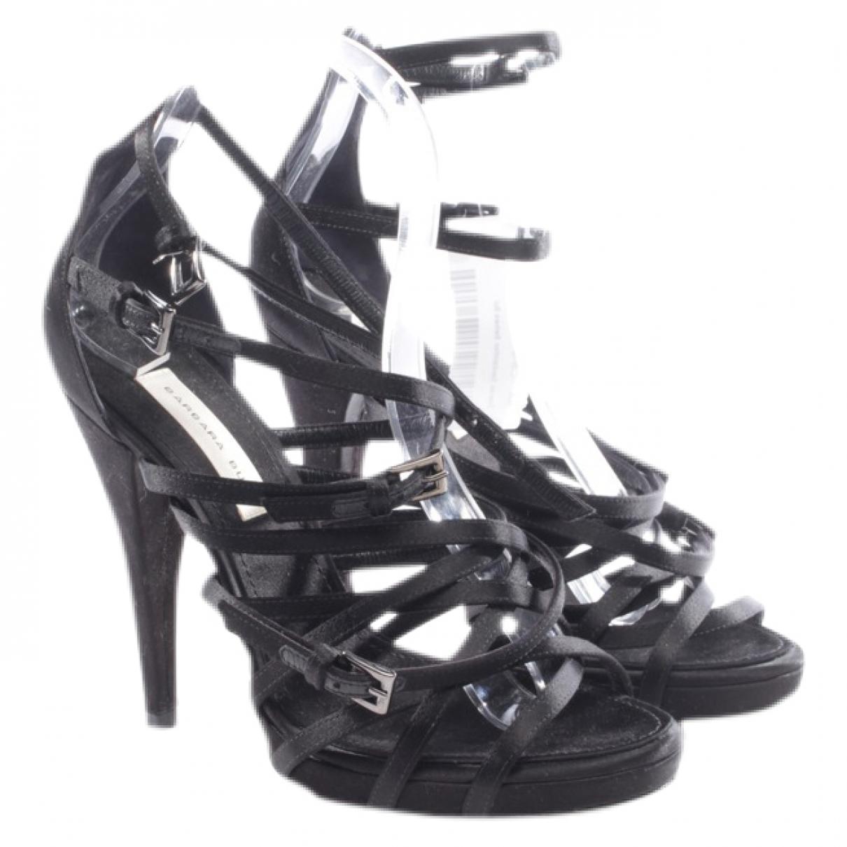 Barbara Bui \N Black Leather Sandals for Women 37 EU