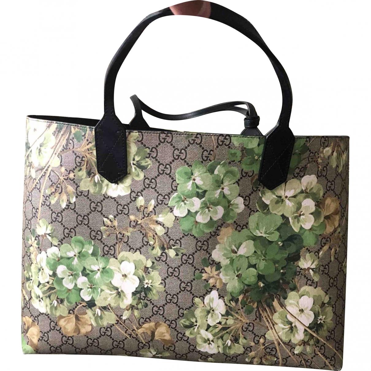 Gucci GucciTotem Handtasche in  Beige Leinen