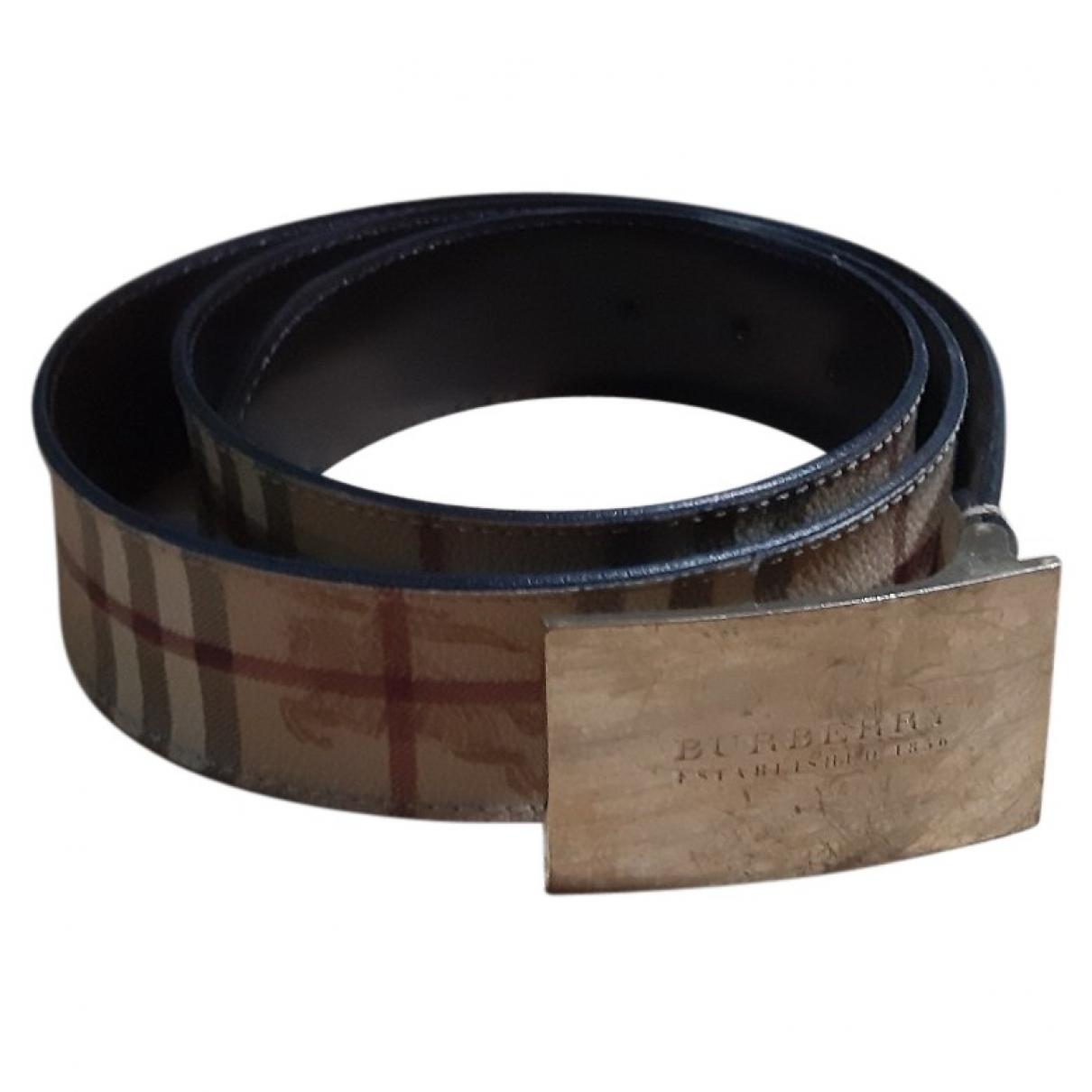 Burberry \N Beige Cloth belt for Women L International