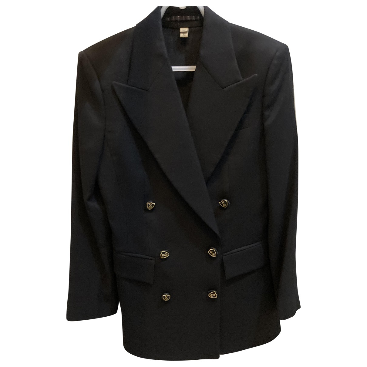 Burberry \N Black Wool jacket for Women 6 UK